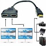 1080P HDMI mâle vers Double HDMI Femelle 1 vers 2 Voies Adaptateur convertisseur...