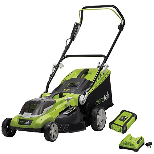 Aerotek Cordless Lawnmower 40V Lithium-Ion 4Ah Battery & Charger Included Cutting Width 40cm Series X2 Review