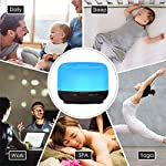 Tenswall-500ml-Diffusore-di-Aromi-con-TelecomandoUltrasuoni-Umidificatore-Diffusore-Oli-Essenziali7-Colori-LED2-Modo-di-Nebbia4-Impostazioni-TimerAuto-Spegnimento-per-YogaSpaUfficioCasa-Nero