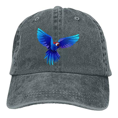 Four Seasons SHOP Blue Parrot Denim Hat Adjustable Mens Plain Baseball Cap -