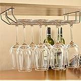 Impulse International Stainless Steel Wall Mouting Wine Glass Holder/Rack,(Double Line)