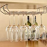 #2: Impulse Stainless Steel Wall Mouting Wine Glass Holder / Rack / Glass Rack Upside down Glass Hanging Stand (Double Line) Long Life Warranty