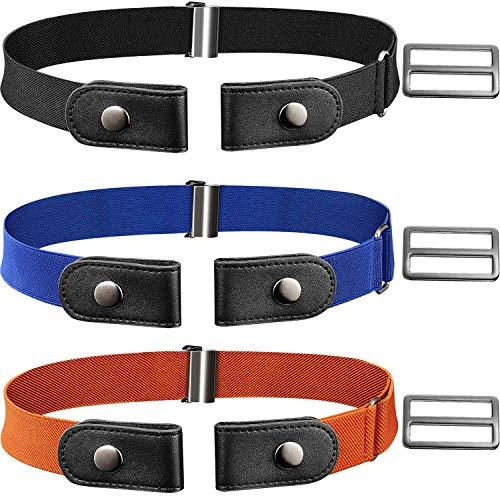 MSPTER No Buckle Free Belt Elastic Belt for Women/Men/Kids Pants Jeans 19