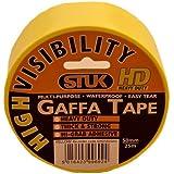 Stuk ghd5025hv 50 mm x 25 m Hi-Vis Gaffa-tejp – gul