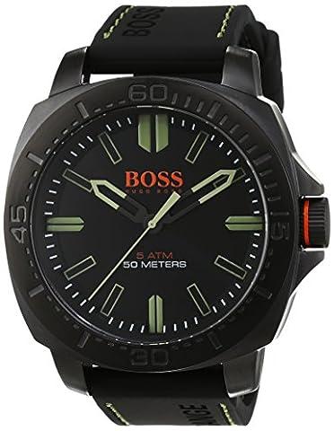 BOSS Orange Herren-Armbanduhr SAO PAULO Analog Quarz Silikon 1513254