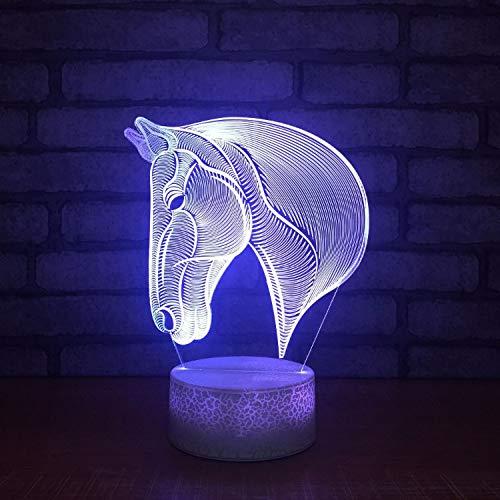 Lámparas De Ilusión Óptica Arte 3D Cabeza De Caballo