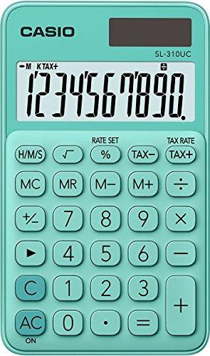 Casio SL-310UC-GN Taschenrechner, 10-stellig, grün