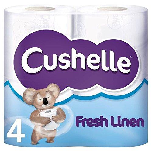 Cushelle Frische Bettwäsche Duftende Toilettenpapierrollen 4 Stück Pro Packung