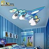 Ancernow intelligente kreative Simple LED Deckenleuchten PVC-Flugzeug LED Deckenleuchte für Schlafzimmer, Wohnzimmer, Kinderzimmer,badezimmer,jugendzimmer,esszimmer