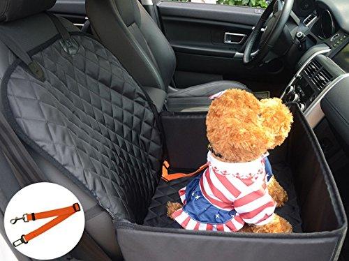 Impermeabile Copertura Anteriore Auto per Cani Animale 2in1 Proteggere Coprisedile Antiscivolo per cane Domestico Coperta telo per Protezione Posteriore Sedile Auto di Automobile Tappetino per SUV