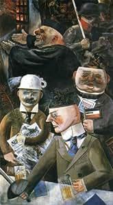 Reproduction peinte à la main - 11 x 20 inches / 28 x 51 CM - George Grosz - Les Piliers de la so...