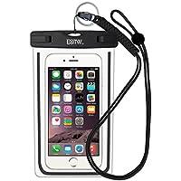EOTW IPX8 Custodia Impermeabile Universale di 6 Pollici Cellulare,Subacqueo Impermeabile Waterproof Borsa per Rafting Kayak Canottaggio Pesca Sci iPhone Samsung Huawei Sony LG - Nero