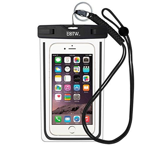 EOTW IPX8 Wasserdichte Tasche, Wasser- und staubdichte Hülle für Geld, Datenträger und Smartphones bis 15,24 cm (6 Zoll), Ideal für den Strand, Wassersport, fürs Radfahren, Angeln, usw. Schwarz …