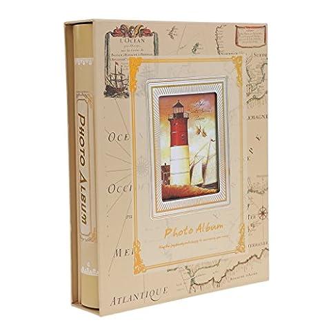 MagiDeal Fotoalben Scrapbooking DIY Fotoalbum Bilderalbum Vintage Stil Sticker Tagebuch Geburtstaggeschenk - Eisen Turm, 29 x 23 x 5 cm