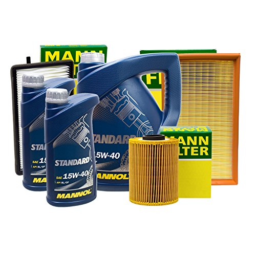 Preisvergleich Produktbild MANN FILTER SET INSPEKTIONSPAKET + 7L MANNOL 15W-40