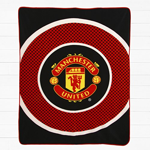 Geschenk Ideen–Offizielle Manchester United FC Fleece Decke–Ein tolles Geschenk für Fußball Fans (Fleece-footy)