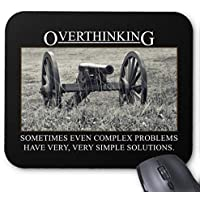 BAOQIN Mouse Pad,Stop Overthinking The Solutions to Problems Mouse Pad 18 * 22 cm