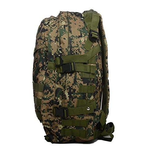 Borsa da montagna all'aperto 40L3D zaino camuffamento militare Arrampicata Escursioni quotidiane di campeggio Borse e borse desert camouflage jungle digital