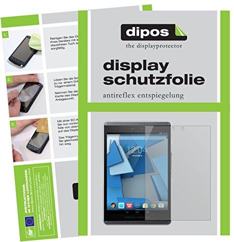 dipos I 2X Schutzfolie matt passend für HP Pro Slate 8 Folie Bildschirmschutzfolie