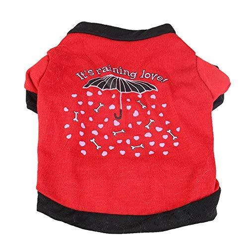 Yslin Vest Jumpsuit lipanpan Pet Kleidung Niedlichen Regenschirm Welpen Kitty Welpen Lässig Kurzarm Teddy Atmungsaktiv Zweibeiner Kostüm Hundekostüm Tier Kleiner Milchhund (Easy Teddybär Kostüm)