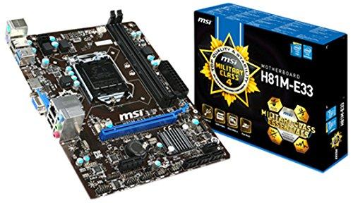 MSI H81M-E33 Mainboard Sockel 1150 (mATX, Intel H81, PCIe, HDMI, USB)