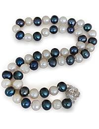 176b4c7d484c5d Collane a perle naturali d'acquadolce, perla d'acquadolce coltivata  naturalmente, naturale