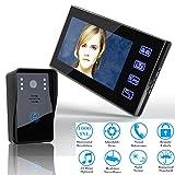 MOLEY SY816A11 7 Zoll Video Türsprechanlage Intercom Türklingel Touch-Taste Fernbedienung Entsperren Nachtsicht Überwachungskamera