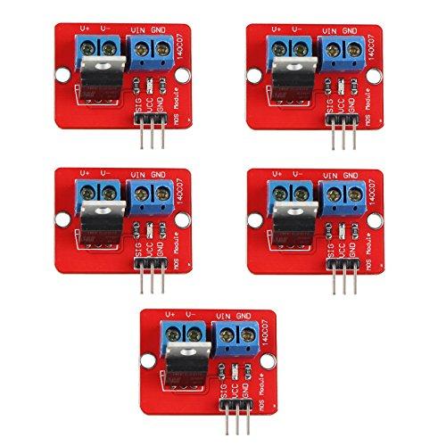 haljia 5x IRF520MOS FET Mosfet Treiber Modul für Arduino Raspberry Pi ARM MCU Pumpe-treiber