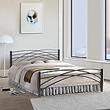#9: FurnitureKraft Denver Metal Queen Size Double Bed,Black