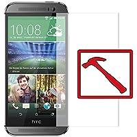 """Slabo PREMIUM Panzerglasfolie HTC One M8 / M8S Echtglas Displayschutzfolie Schutzfolie Folie """"Tempered Glass"""" KLAR - 9H Hartglas"""