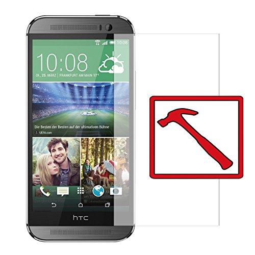 """Slabo PREMIUM Panzerglasfolie HTC One M8 / M8S Echtglas Displayschutzfolie Schutzfolie Folie \""""Tempered Glass\"""" KLAR - 9H Hartglas"""