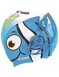 Gorro y gafas de natación Junior triatlón Jaked Azul azul