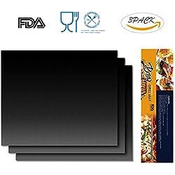 IREGRO BBQ Grillmatte Backpapier aus Teflon, 100% Anti-Haft und Wiederverwendbar Grill Matte für Holzkohlegrill Backofen Mikrowelle