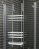 extrem-bad B - Ware in weiß Leichte Kratzer oder fehler Duschkabinen Hängeregal 3 Etagen ohne Bohren Duschablage Badregal Duschregal