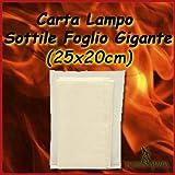 Carta lampo 4 Fogli sottile gigante (25x20 cm)