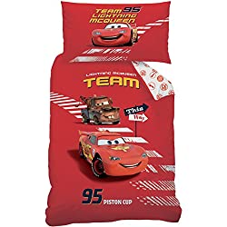 Disney Cars 043645 This Way de Cama, algodón renforce, 160 x 210 + 65 x 100 cm