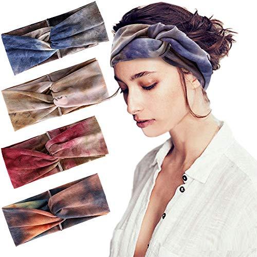 f65eddc1446a Joinfun fascia capelli donna, delle donne elastiche Modern Style Vintage  Turbante fasce ritorto bandana Knot