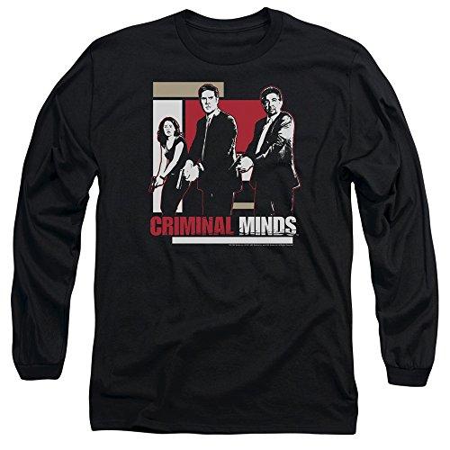 Criminal Minds TV Show CBS Guns Drawn Adult Long Sleeve T-Shirt Tee
