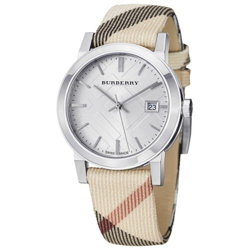 Burberry Watch, UNISEX Swiss Nova Check Fabric Strap 38mm BU9022