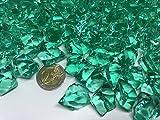 140 Stück 500g große türkis Deko Eis Diamanten 32mm Brillianten Strasssteine Acrylsteine basteln Dekosteine Gltzersteine Strass Steine zum Verzieren Dekorieren von CRYSTAL KING