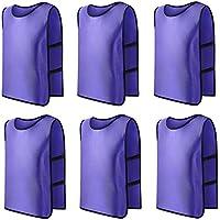 Panegy - Pack de 6 Chalecos Transpirable de Fútbol Baloncesto Rugby Deportes  Correa Elástica Secado Rápido e3f89d0fde299