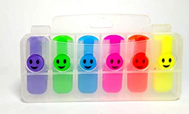 Must Visit Marker, Highlighter Set of 6 in Different Colors