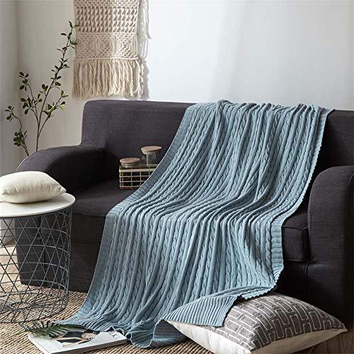 WWSUNNY Manta de sofá Mantas para Cama, 2 tamaños y 12 Colores,...