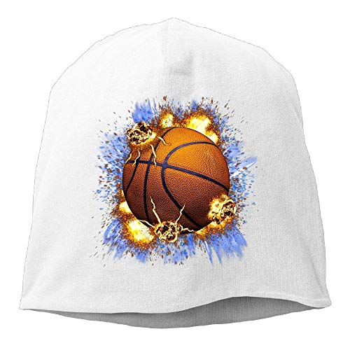 Hipiyoled Beanie Hat Baseball Cap Male/Female Flames Basketball Cotton Skull Cap 21825 Flame Knit Beanie