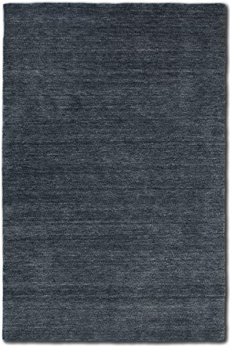 Morgenland Gabbeh Teppich Grau Beige Silber Uni Einfarbig Handgewebt Schurwolle, Größe:400 x 80 cm Läufer, Farbe:Grau -