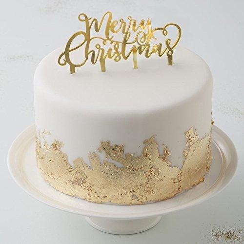 Metallic Star - Gold Merry Christmas Cake Topper (Christmas Kollektion Merry)
