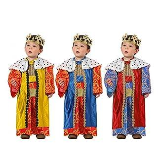 Atosa-32130 Atosa-32130-Disfraz Rey Mago niño bebé-Talla Color Surtido-Navidad, Multicolor, 12 a 24 Meses (32130)