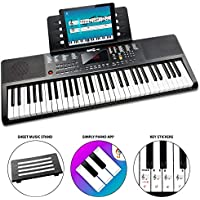 RockJam 61-Key Portable Electric Keyboard Piano With Power Supply, Sheet Music Stand and Simply Piano App