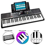 Rockjam 61 Clavier Key Piano Partitions avec stand, Piano Remarque Sticker, Alimentation et simplement l'application Piano
