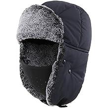 Magracy Sombrero de trampero de Soldado Ruso de Invierno para los Hombres  Cálido Sombrero de Caza 369c8f0a4ab